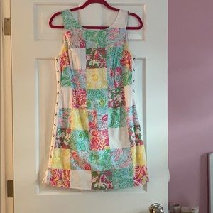 COPY - Lilly Pulitzer patchwork dress fun details